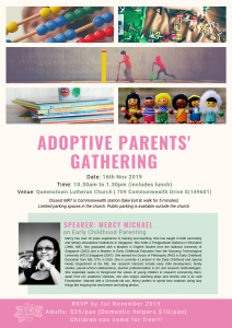 adoptive parents' gathering poster